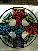 giveaway, Celtic Cross, stained glass, Celtic art, free, Scotland