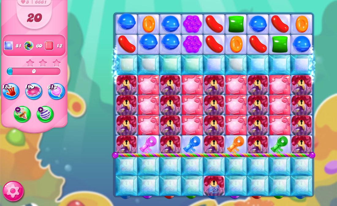 Candy Crush Saga level 6661