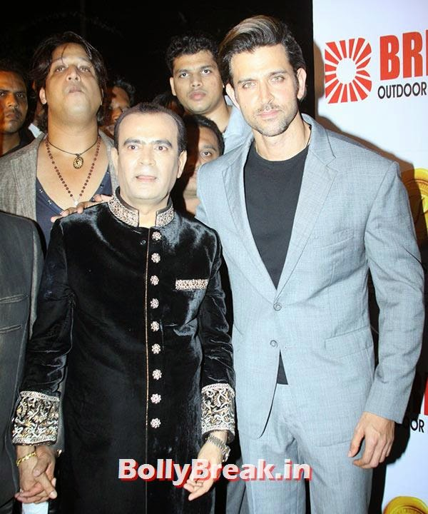 Hrithik Roshan, Yogesh Lakhani, Ranbir, Hrithik at Bright awards 2014