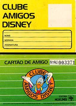 ... do Clube Amigos Disney