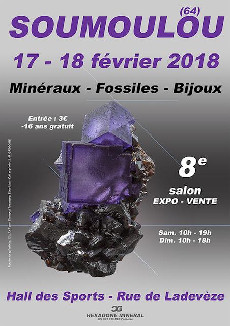 SALON MINERAUX FOSSILES BIJOUX SOUMOULOU 2018