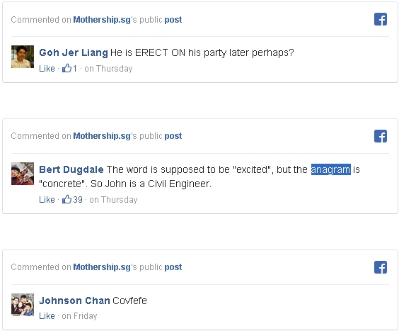 Screen grab on comments about Mothership.sg's public post by Netizens.