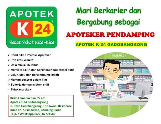 Lowongan Apotek K24 Bandung