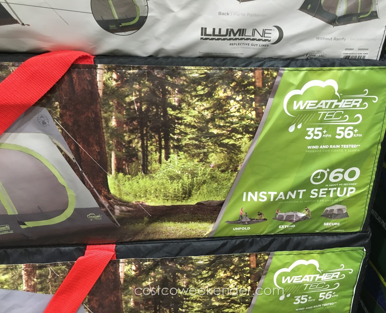 Coleman 10-Person Instant Cabin Tent the comforts of inside when youu0027re & Coleman 10-Person Instant Cabin Tent | Costco Weekender