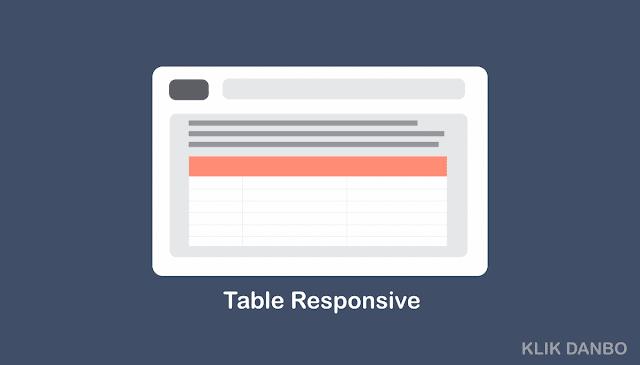 Cara Membuat Tabel Flat Responsive untuk Blog