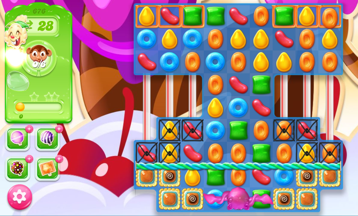 Candy Crush Jelly Saga level 676