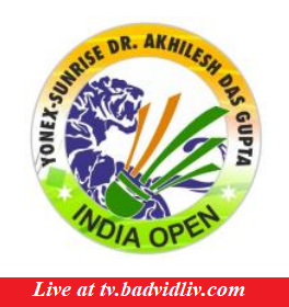 Yonex-Sunrise Dr. Akhilesh Das Gupta India Open 2018 live streaming and videos