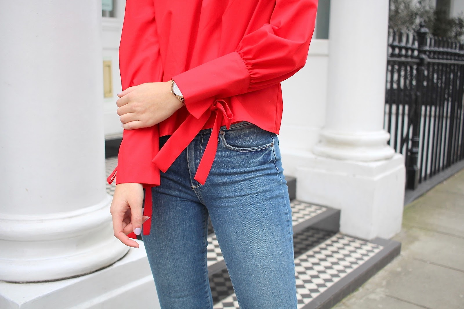 topshop red top peexo personal style blogger london