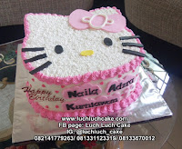 Hello Kitty 3d Cake Buttercream Kepala