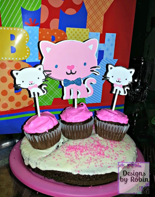 Cut One Designs by Robin: Kitty Birthday Day Party cuteness!!!
