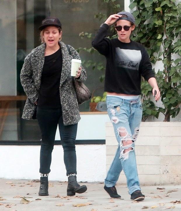 Kristen Stewart is seen in moment of affection with friend, but denies affair