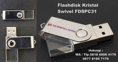 USB Flashdisk Crystal Swivel FDSPC31, Usb Crystal Swivel, Souvenir USB Flashdisk Metal, souvenir promosi logo usb swivel