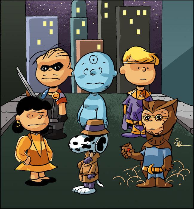 Peanuts/Watchmen mashup