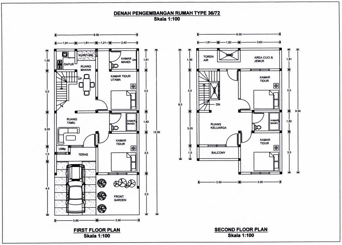 gambar denah rumah lantai 2 ideal 3