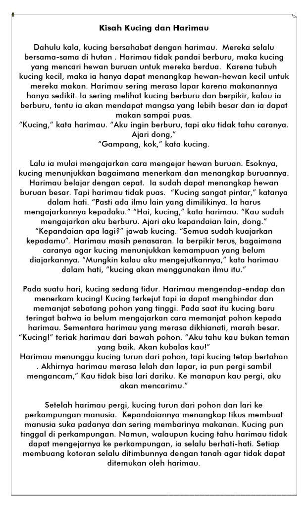 Cerita Rakyat Pendek Dan Pesan Moralnya : cerita, rakyat, pendek, pesan, moralnya, Gambar, Cerita, Hewan, Kucing, Terbaru