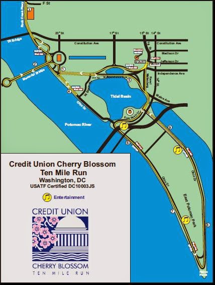 Course Guide: Cherry Blossom 10 Mile Run (2017)