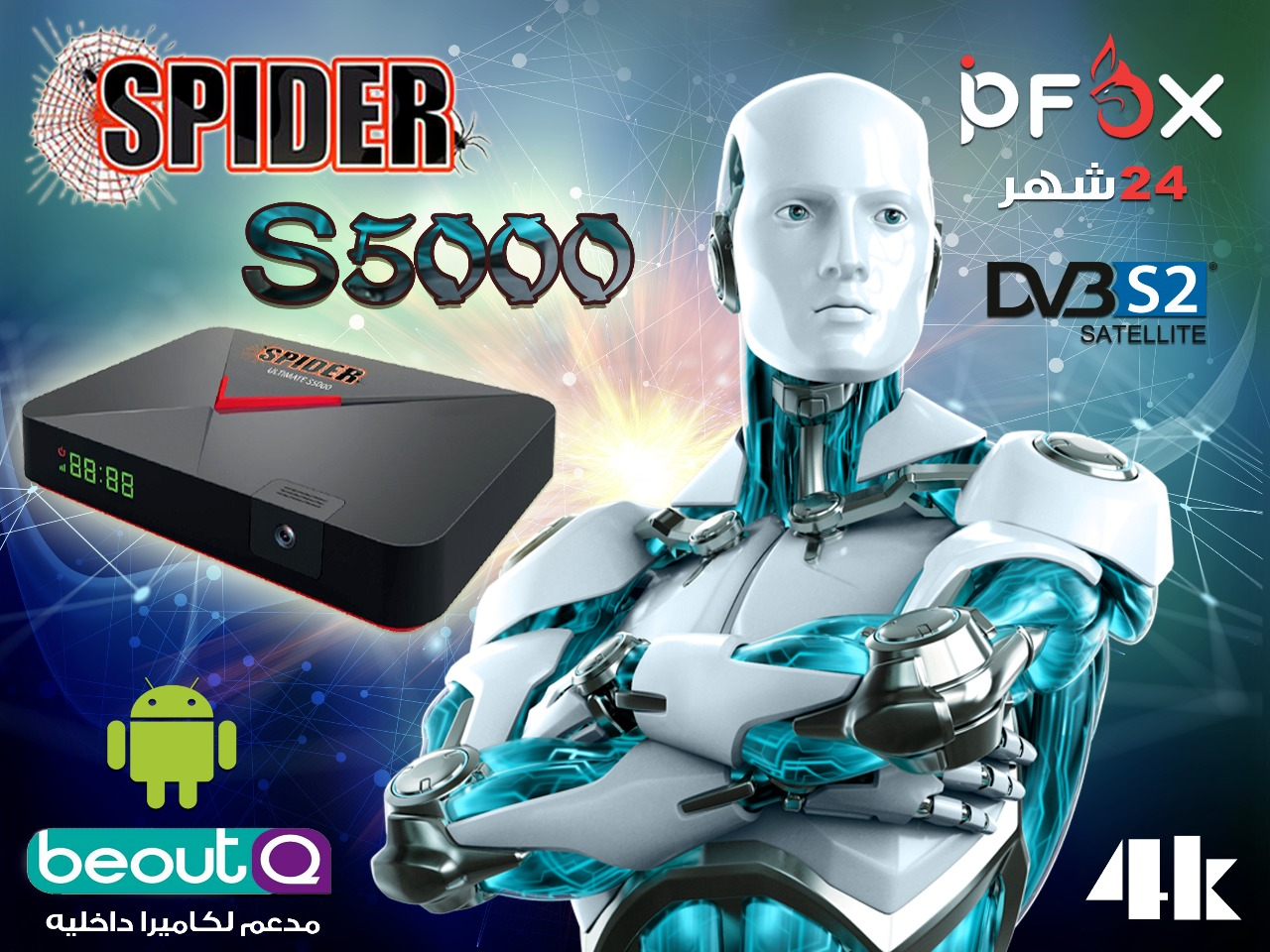 SPIDER S5000 ANDROID HD RECEIVER NEW SOFTWARE ~ Dish Group
