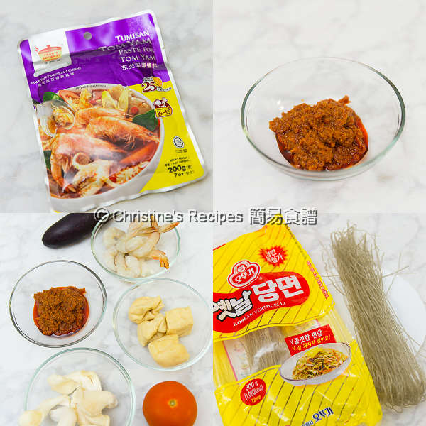 冬蔭湯材料 Tom Yam Noodle Soup Ingredients