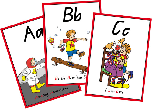 A B C Flash Cards