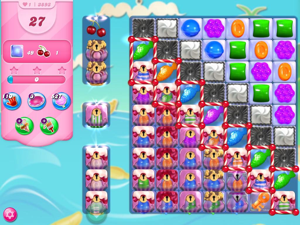 Candy Crush Saga level 3893