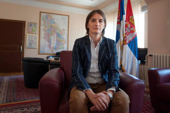 Serbia to have first gay prime minister as Ana Brnabic is chosen