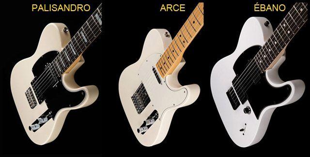 Diferentes Maderas en el Diapasón de la Guitarra Eléctrica