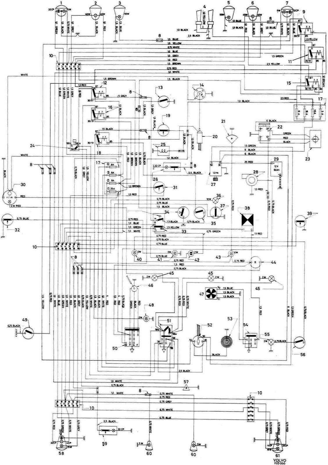 Volvo 123gt Complete Electrical Wiring Diagram