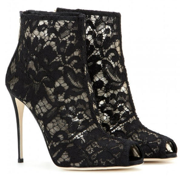 Dolce & Gabbana Lace Ankle Boot stock image