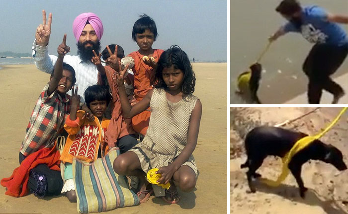 40 Times 2016 Restored Our Faith In Humanity - This Man Removed His Turban To Save A Drowning Dog