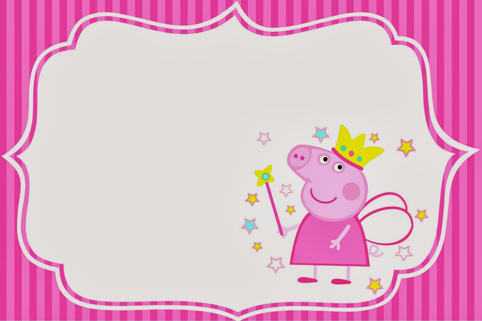 Peppa Pig Fairy Invitations and Free Party Printables – Party Invitations for Free