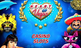 Screenshots of the Heart of Vegas: Casino slots for Android tablet, phone.