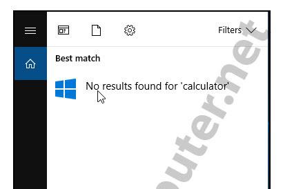 Cara Menampilankan/Mengatasi Calculator Yang Hilang Di Windows 10