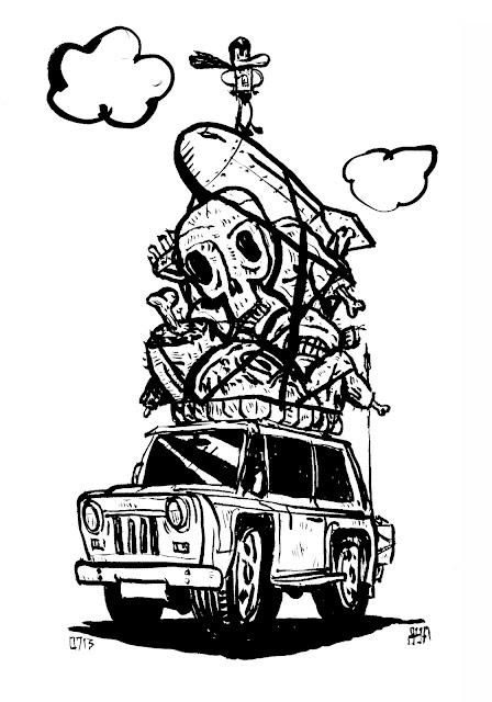 Post-apocalypse for dummies, illustrated by John Yoyogi Fortes