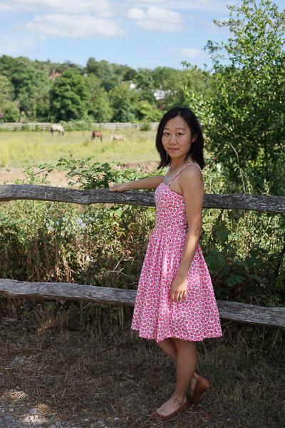 Self-drafted Free Pattern Picnic Dress Pink
