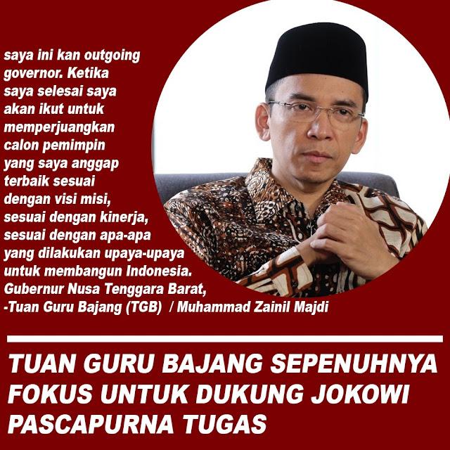 TGB Sepenuhnya Akan Dukung Jokowi Pascapurna Tugas