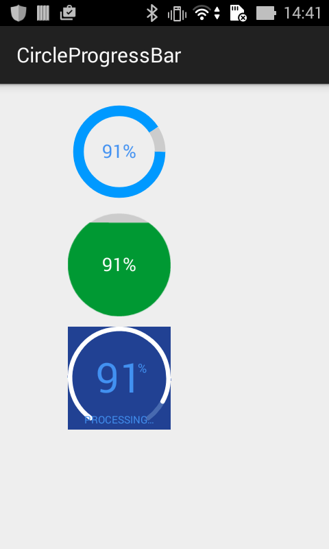 Android Tip: Customizing ProgressBar Using external library