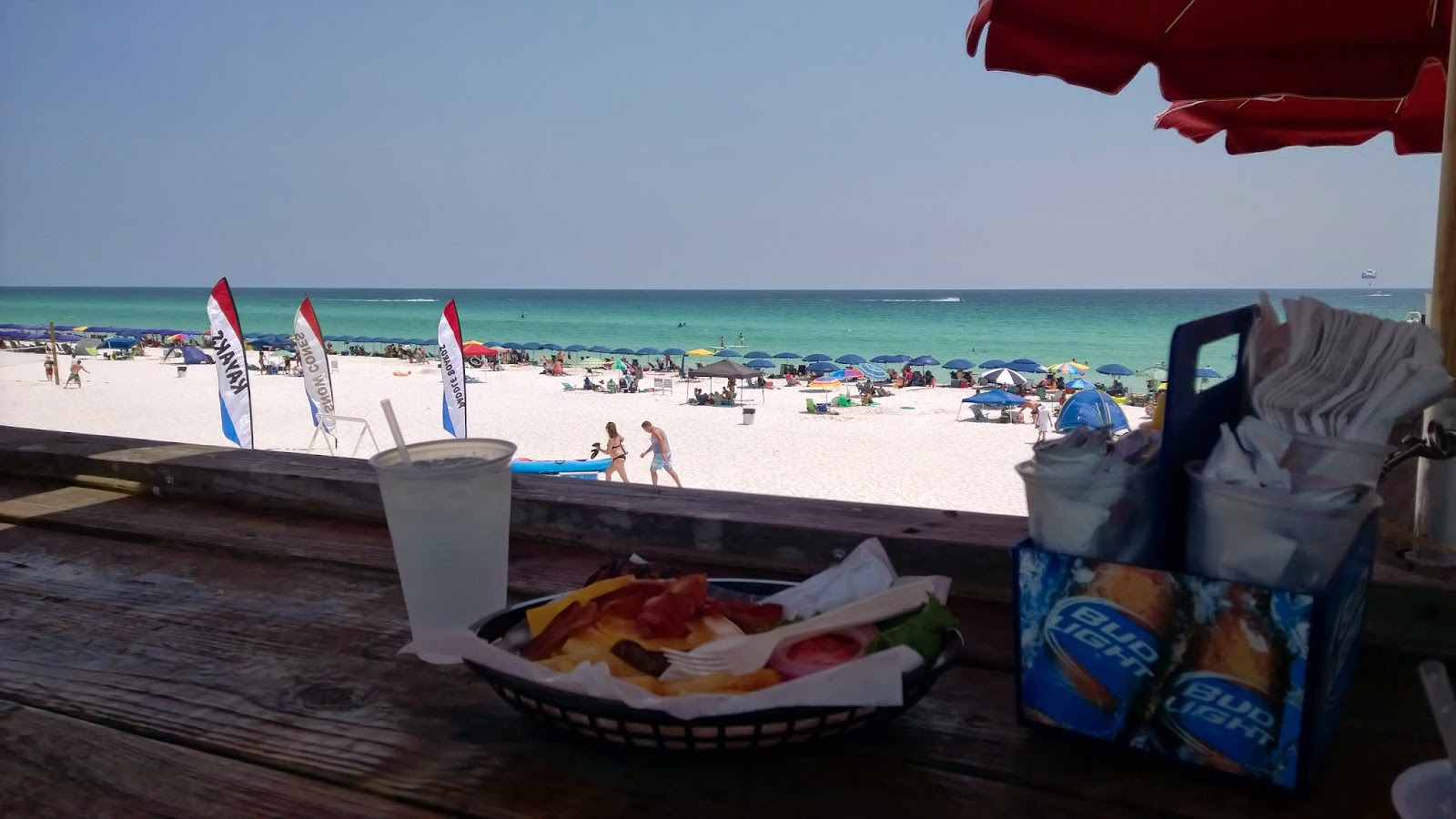 Destin FL beach with sugar white sand and clear water