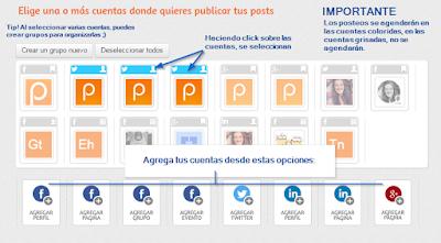 postcrom te ayuda a publicar en todas tus redes sociales