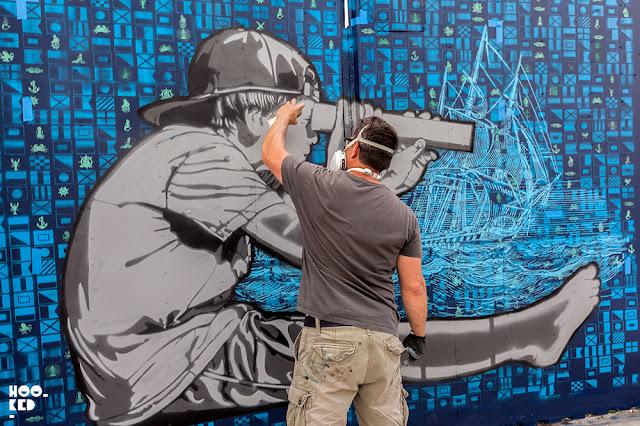 "Logan Hicks & Joe Iurato ""Seafaring Dream"" New York Street Art. Photo ©Hookedblog"