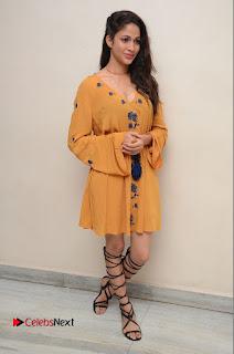 Actress Lavanya Tripathi Pictures in Short Dress at Srirastu Subhamastu Trailar Launch  0062