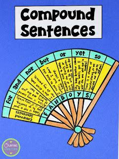 FREE Compound Sentences Craftivity- Help students remember the coordinating conjunctions by using the FANBOYS acronym.
