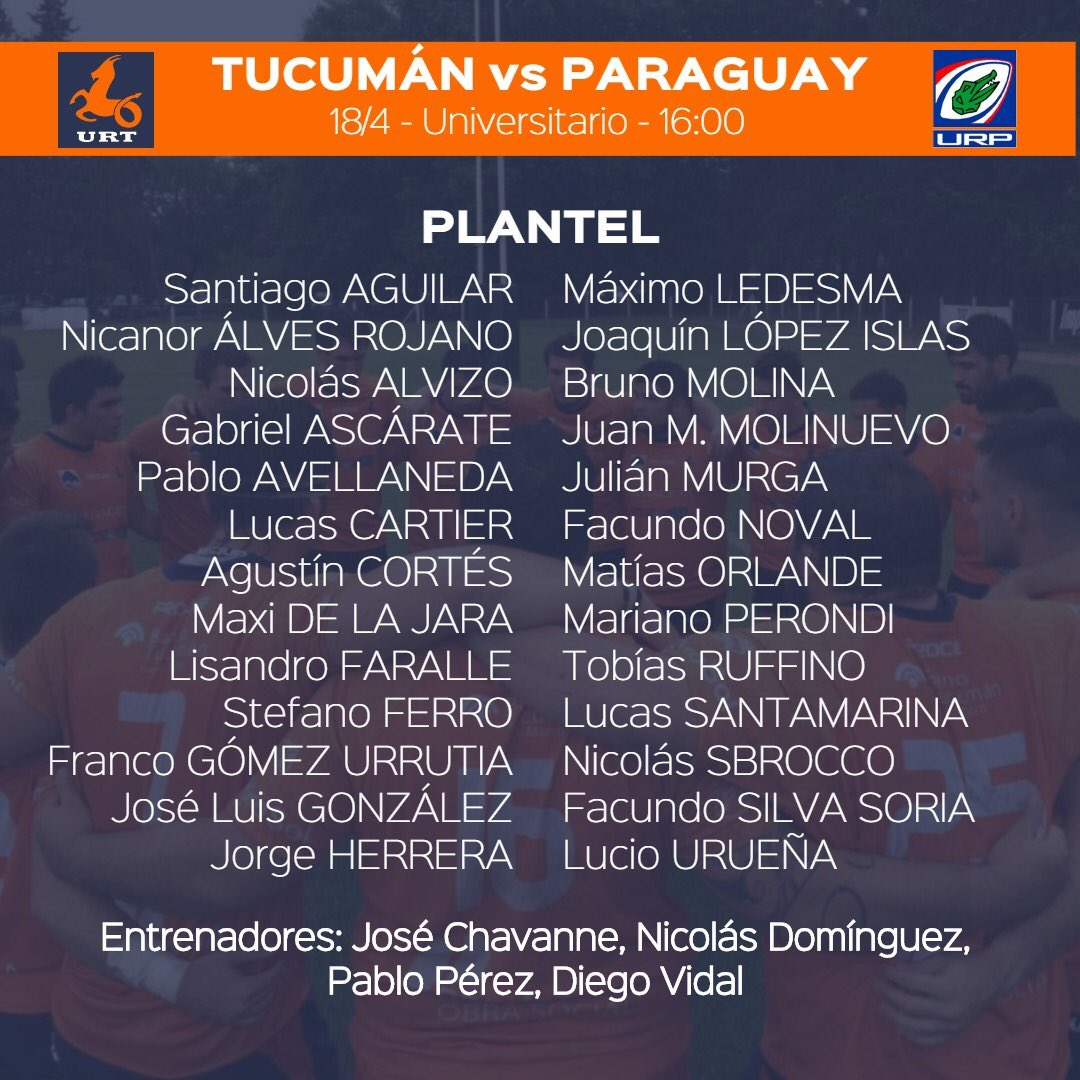 Los Naranjas están listos para enfrentar a Paraguay