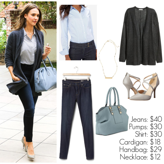 look for less jessica alba, street style, fall outfit idea