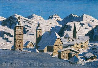 Alfons Walde - Kitzbühel v zime