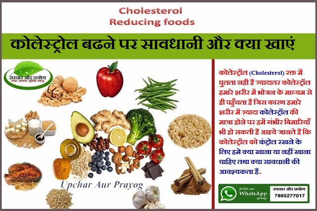 कोलेस्ट्रोल बढने पर सावधानी और क्या खाएं