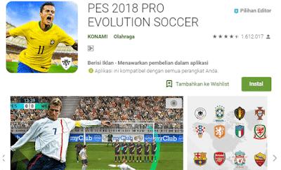 main bola pes untuk pengguna android secara online dan offline