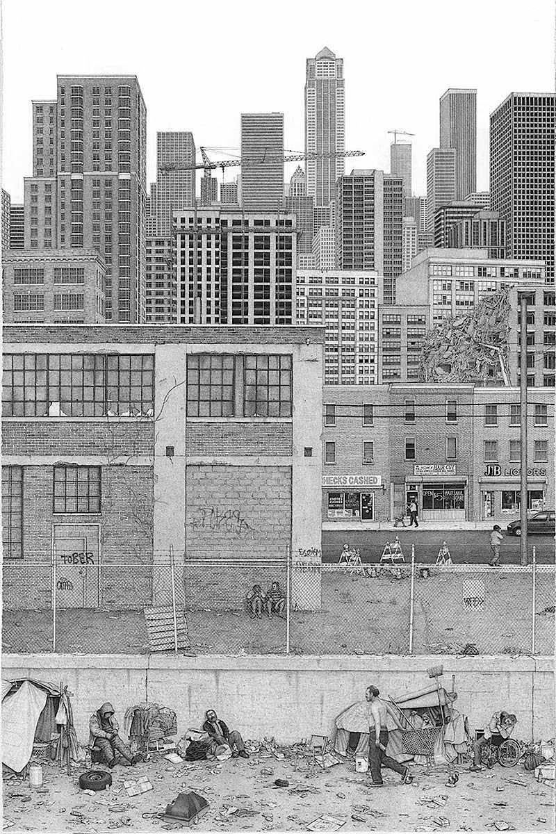 Ben Tolman art, 2015, a city skyline
