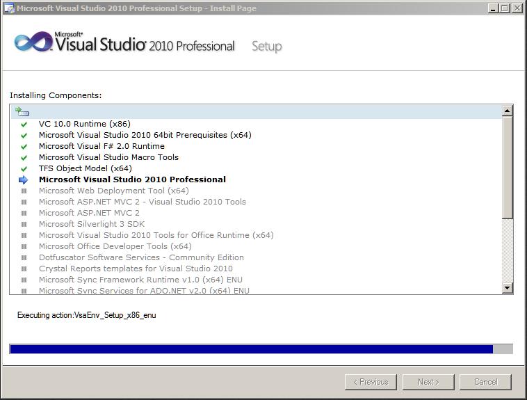 Visual Studio 2010 Kurulumu | /dev/null Web Günlüğü