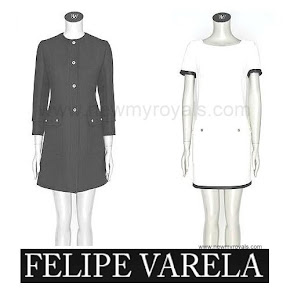 Queen Letizia FELIPE VARELA Coat and Dress