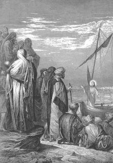 Jesus Preaches from a Ship - Alexandre Bida